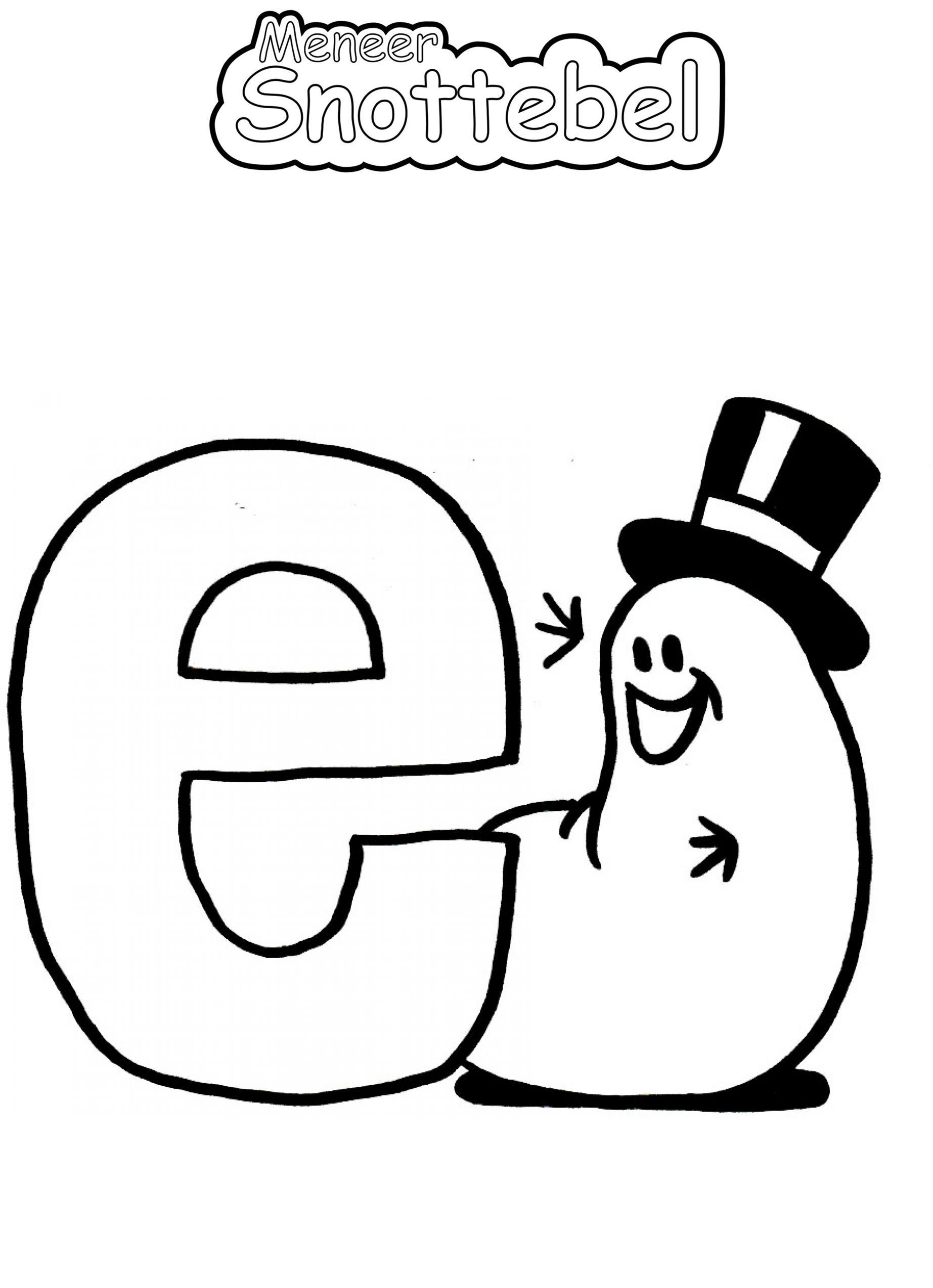 Alfabet - E