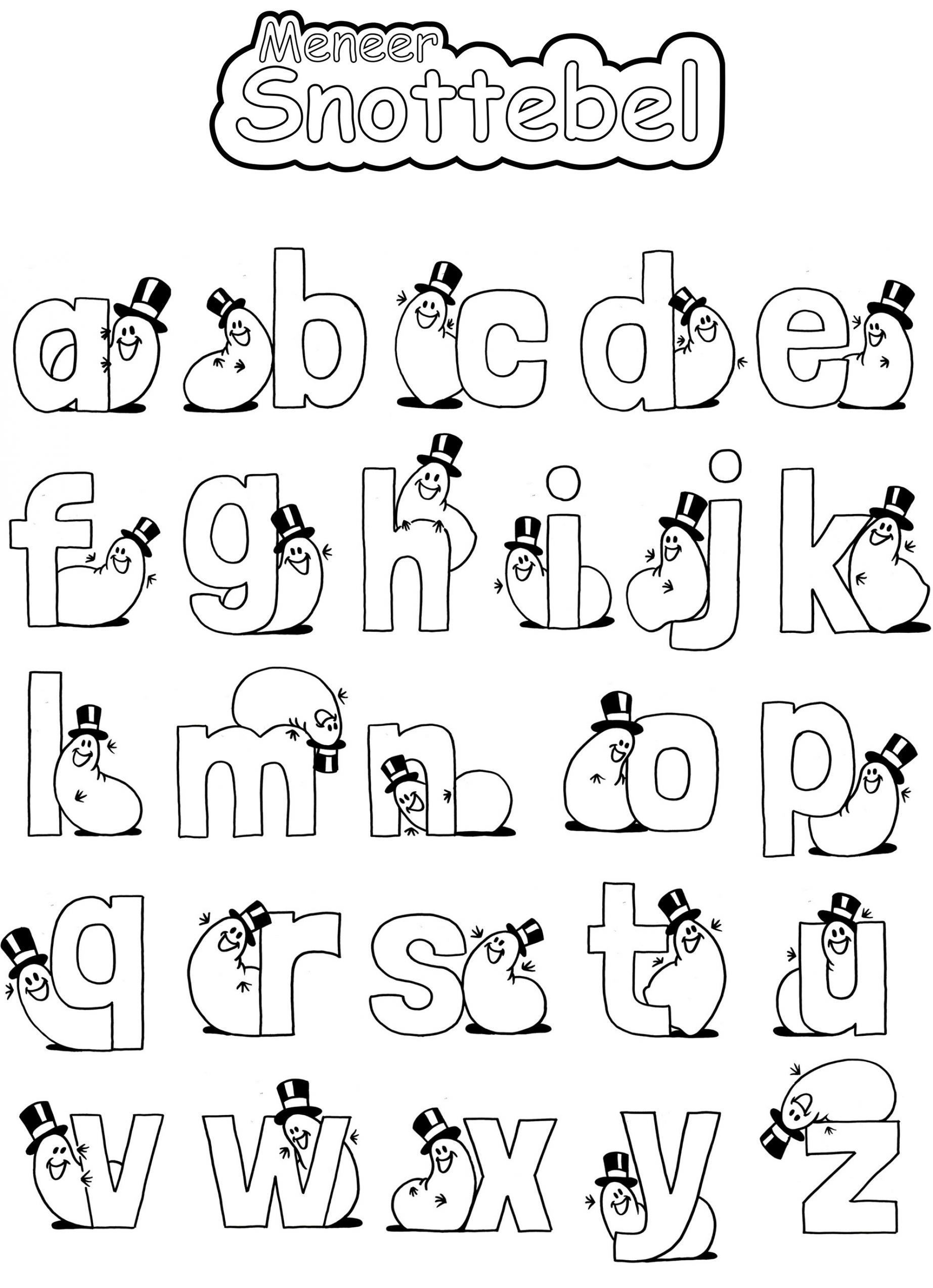 kleurplaten van alfabet